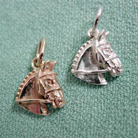 14k Gold Hunter/Jumper/Event Horse Head Charm or Pendant