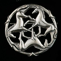 Sterling Silver Celtic Horse Pin