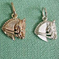 Sterling Silver Dressage Horse Charm or Pendant