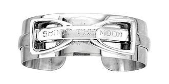 """Shoot the Moon"" Handmade Sterling Silver Stirrup Cuff Bracelet"