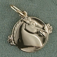 14k Gold Asian Horse Charm or Pendant
