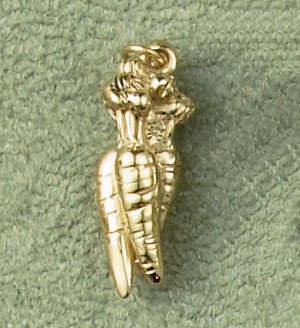 14k Gold Bunch of Carrots Charm or Pendant