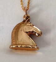 14k Gold Roman Horse Head Charm or Pendant