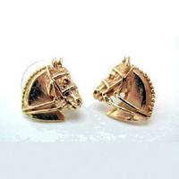 14k gold Dressage Horse Head Earrings.