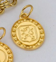 14k Yellow or White Gold Dutch Warmblood Breed Charm or Pendant