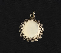 14k Gold Engraveable Disc Charm or Pendant