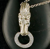 14k Gold Horse Head Pendant Enhancer