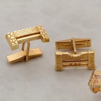 14k Gold Jump Cufflinks
