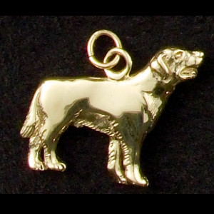 14k Gold Labrador Retriever Dog Charm or Pendant