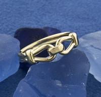 14k gold bit ring