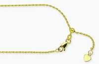 14k Yellow Gold Adjustable Rope Chain