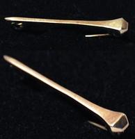 Antique 9k Petite Horseshoe Nail Stock Pin