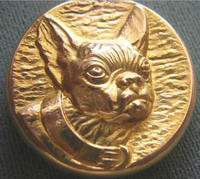 Antique Boston Terrier Dog Locket Pendant