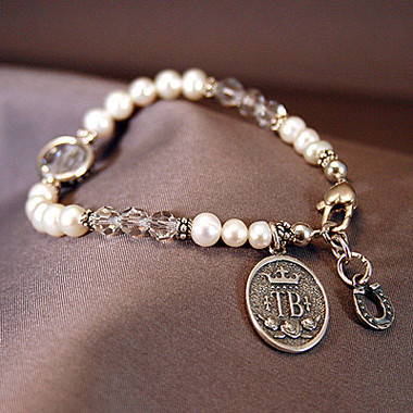 EK Sterling Silver Thoroughbred Breed Charm Bracelet