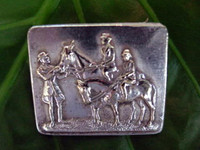 English Silver Brooch of an Equestrian Family