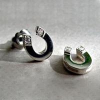 Handmade Sterling Silver Horseshoe Stud Earrings