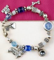 I LOVE DOGS Charm Bracelet