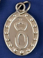 Sterling Silver Oldenburg Horse Breed Charm or Pendant