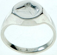 Small Sterling Silver Horse Head Embossed Intaglio Ring