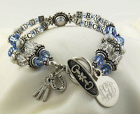 SSA Blue Ribbon Name Cube Bracelet