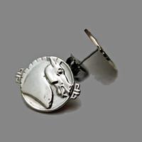 Sterling Silver Asian Horse Earrings