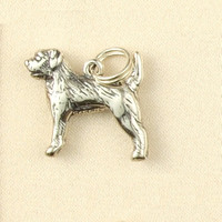 Sterling Silver Border Terrier Dog Breed Charm