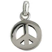 Sterling Silver Chunky Peace Charm or Pendant