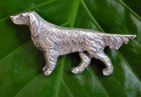 Solid Sterling Silver Setter Dog Brooch Pin from England