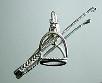 Sterling Silver Crop and Stirrup Pin