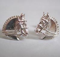 Sterling Silver Dressage Horse Earrings