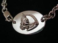 Sterling silver Tiffany-style dressage horse neckpiece