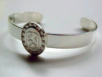 Sterling Silver Dutch Warmblood Breed Bangle Bracelet