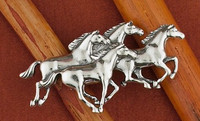 Sterling Silver Galloping Horses PIN
