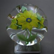 Yellow Floral Paperweight