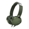 Sony MDR-XB550AP EXTRA BASS Headphone with in-line remote & mic, Green