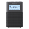 Sony XDR-V20D Portable DAB/DAB+ Clock Radio, Gray