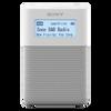 Sony XDR-V20D Portable DAB/DAB+ Clock Radio, White