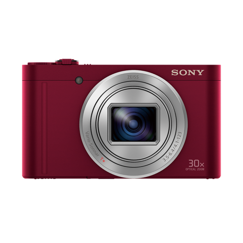 Sony DSC-WX500 Compact Camera with 30x Optical Zoom Red