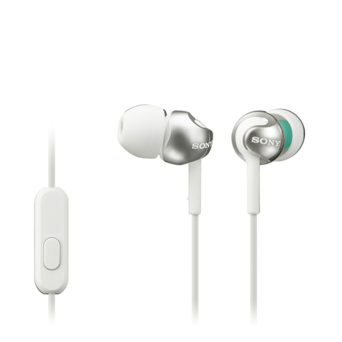 Sony MDR-EX110AP In-ear Headphones with Smartphone Mic & Control, White