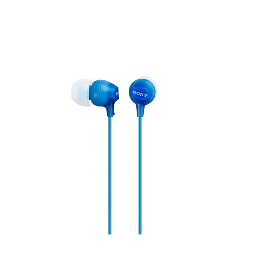 Sony MDR-EX15AP In-Ear Headphone with Smartphone Mic & Control, Blue