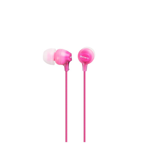 Sony MDR-EX15AP In-Ear Headphone with Smartphone Mic & Control, Pink