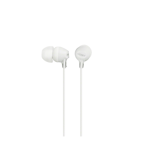 Sony MDR-EX15AP In-Ear Headphone with Smartphone Mic & Control, White