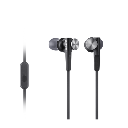 Sony MDR-XB50AP EXTRA BASS In-Ear Headphones, Black