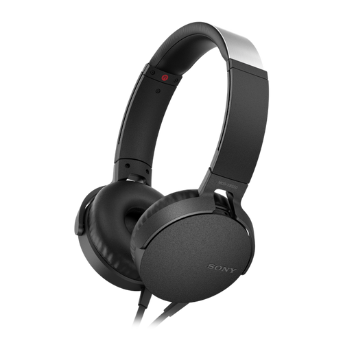 Sony MDR-XB550AP EXTRA BASS Headphone with in-line remote & mic, Black