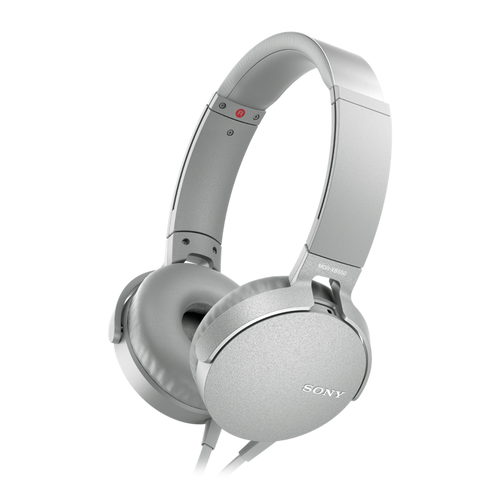 Sony MDR-XB550AP EXTRA BASS Headphone with in-line remote & mic, White