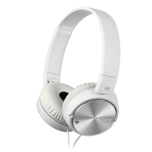 Sony MDR-ZX110NA Noise Cancelling Headphone with Smartphone Mic & Control, White