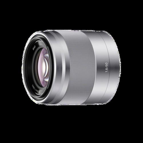 Sony SEL50F18 E 50mm F1.8 OSS, Silver