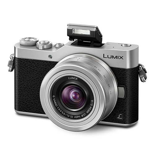Panasonic Lumix DC-GX800 Digital Camera with 12-32mm f/3.5-5.6 Lens, Silver