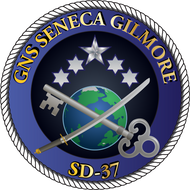 50 patches of GNS Seneca Gilmore SD-57.  Please be aware if this is the first run, 11 of those patches will be withheld for our legal obligation. After the initial order, all 50 patches will be shipped.