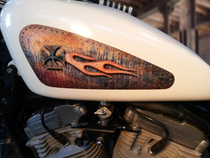 Rusted - Riveted Panels - 2pc Tank decal set